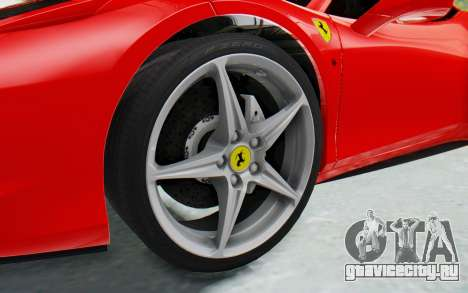 Ferrari 458 Italia F142 2010 для GTA San Andreas вид сзади
