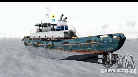 GTA 5 Buckingham Tug Boat v1 IVF для GTA San Andreas вид сзади слева