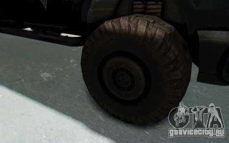 Toyota Hilux Technical Vindicator SecFor для GTA San Andreas вид сзади