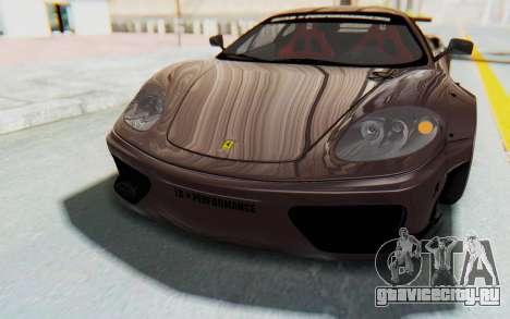 Ferrari 360 Modena Liberty Walk LB Perfomance v1 для GTA San Andreas двигатель