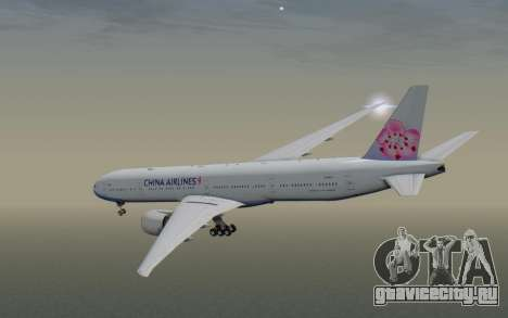 Boeing 777-300ER China Airlines для GTA San Andreas вид справа