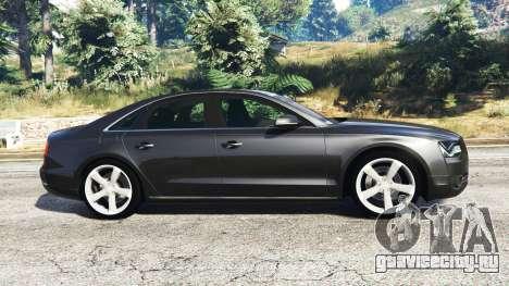 Audi A8 FSI 2010 для GTA 5 вид слева
