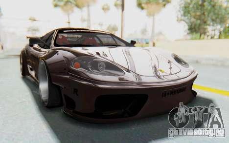 Ferrari 360 Modena Liberty Walk LB Perfomance v1 для GTA San Andreas вид сзади слева