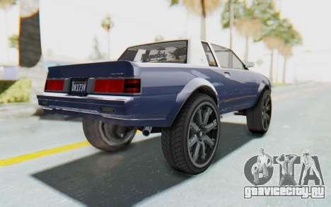 GTA 5 Willard Faction Custom Donk v1 для GTA San Andreas вид слева