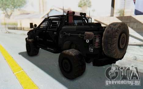 Toyota Hilux Technical Vindicator SecFor для GTA San Andreas вид слева