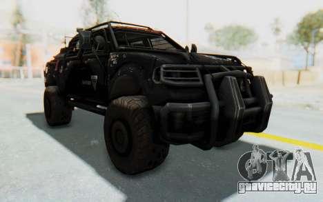 Toyota Hilux Technical Vindicator SecFor для GTA San Andreas вид справа