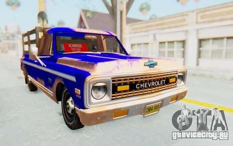 Chevrolet C10 1970 для GTA San Andreas вид справа