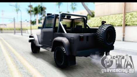 Mesa MAXimum 4x4 для GTA San Andreas вид сзади слева