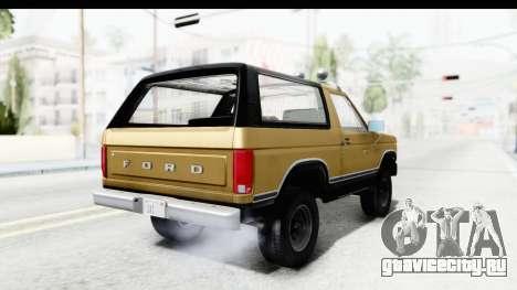 Ford Bronco 1980 IVF для GTA San Andreas вид слева