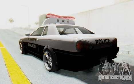 Elegy Japanese Police для GTA San Andreas вид слева