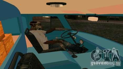 УАЗ-452 для GTA San Andreas вид изнутри