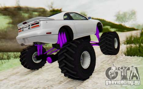 Nissan 300ZX Monster Truck для GTA San Andreas вид сзади слева