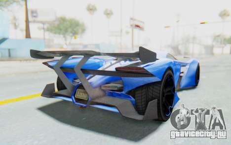 GTA 5 Grotti Prototipo v1 для GTA San Andreas вид сзади слева