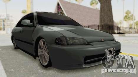 Honda Civic SI Sedan 1992 для GTA San Andreas вид справа