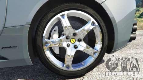 Ferrari California Autovista для GTA 5 вид сзади справа