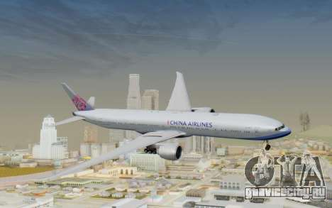 Boeing 777-300ER China Airlines для GTA San Andreas вид сзади слева