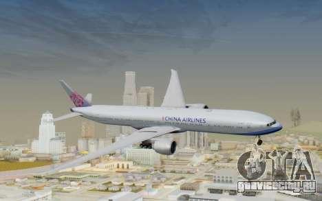 Boeing 777-300ER China Airlines для GTA San Andreas вид сзади слева