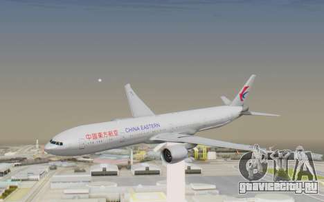 Boeing 777-300ER China Eastern Airlines для GTA San Andreas вид сзади слева