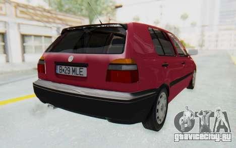 Volkswagen Golf 3 1994 для GTA San Andreas вид сзади слева