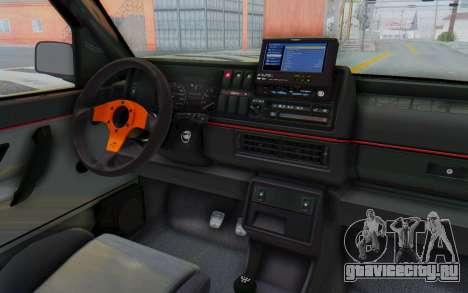 Volkswagen Golf 2 GTI 1.6V для GTA San Andreas вид изнутри