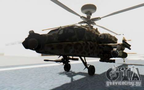 AH-64 Apache Leopard для GTA San Andreas вид справа