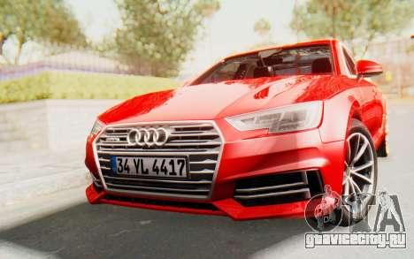 Audi A4 2017 IVF для GTA San Andreas