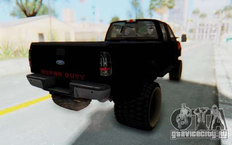 Ford Super Duty Off-Road для GTA San Andreas вид сзади слева