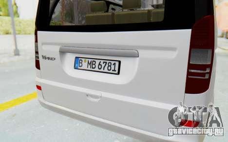Mercedes-Benz Viano W639 2010 Long Version для GTA San Andreas вид сбоку