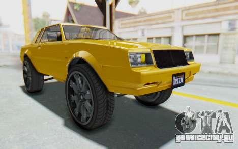 GTA 5 Willard Faction Custom Donk v1 IVF для GTA San Andreas вид справа