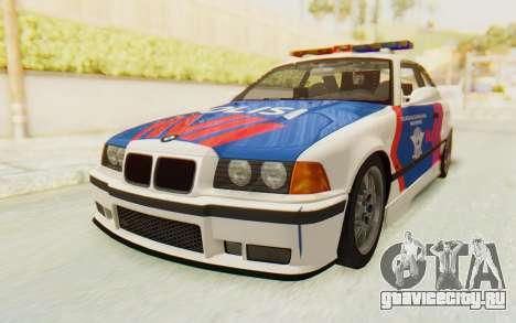 BMW M3 E36 Police Indonesia для GTA San Andreas вид сзади