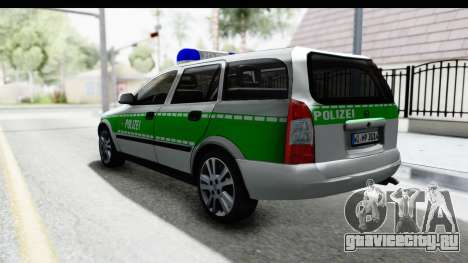 Opel Astra G Variant Polizei Bayern для GTA San Andreas вид слева