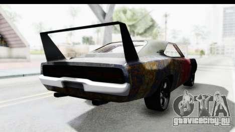 Dodge Charger Daytona F&F Bild для GTA San Andreas вид сзади слева