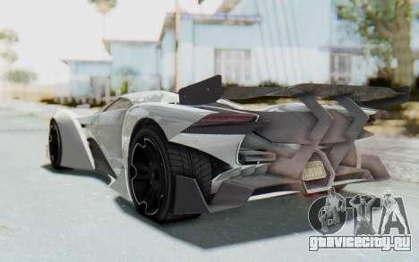 GTA 5 Grotti Prototipo v2 для GTA San Andreas вид сзади слева