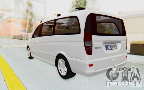 Mercedes-Benz Viano W639 2010 Long Version для GTA San Andreas вид слева