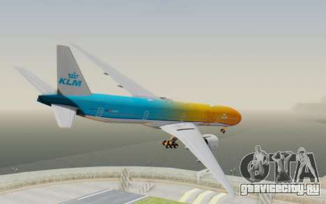 Boeing 777-300ER KLM - Royal Dutch Airlines v1 для GTA San Andreas вид слева