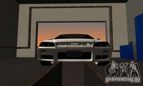 Nissan Skyline ER34 GT-R для GTA San Andreas вид сзади