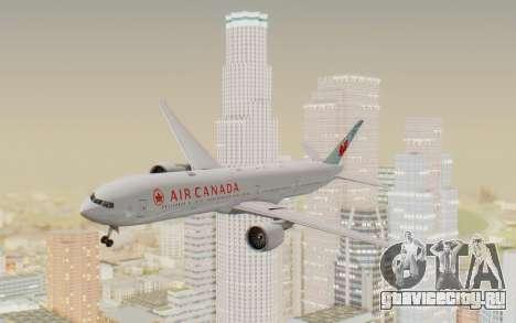 Boeing 777-300ER Air Canada для GTA San Andreas вид сзади слева