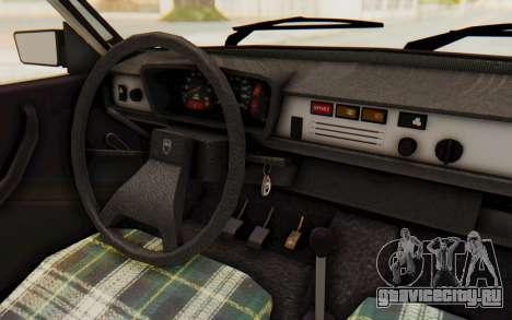Dacia 1310 TLX для GTA San Andreas вид изнутри