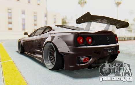 Ferrari 360 Modena Liberty Walk LB Perfomance v1 для GTA San Andreas вид изнутри