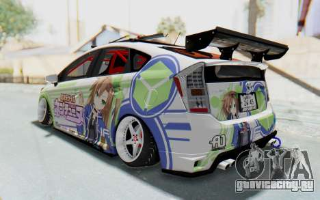 Toyota Prius Hybrid 2011 Hellaflush IF Itasha для GTA San Andreas