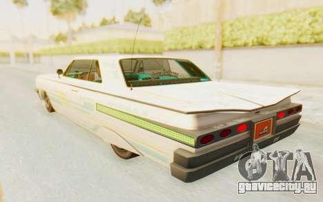 GTA 5 Declasse Voodoo Alternative v1 для GTA San Andreas салон
