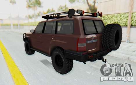 Nissan Patrol Y61 Off Road для GTA San Andreas вид слева