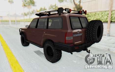Nissan Patrol Y61 Off Road для GTA San Andreas вид слева
