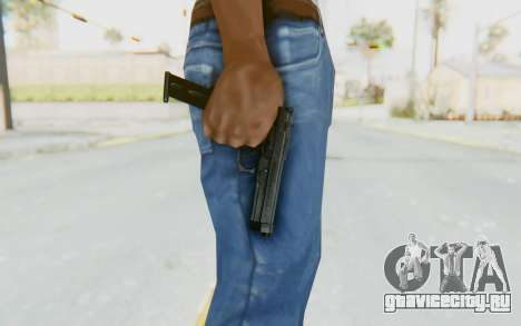 Tariq Iraqi Pistol Back v1 Black Long Ammo для GTA San Andreas третий скриншот