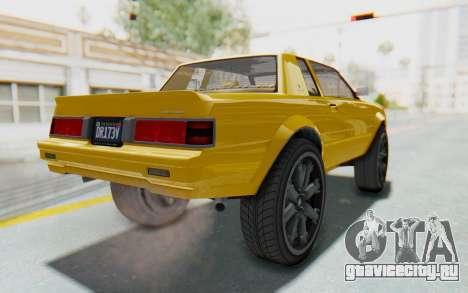 GTA 5 Willard Faction Custom Donk v1 IVF для GTA San Andreas вид сзади слева