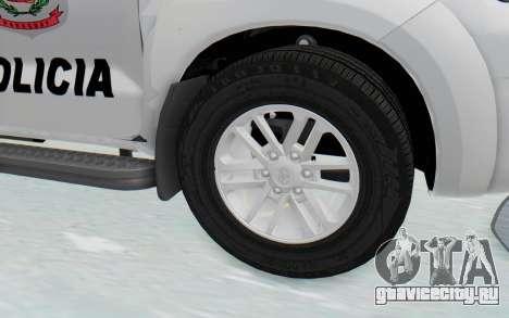 Toyota Fortuner 4WD 2015 Paraguay Police для GTA San Andreas вид сзади