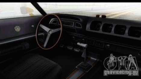 Mercury Cyclone Spoiler 1970 IVF для GTA San Andreas вид изнутри