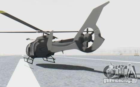 GTA 5 Maibatsu Frogger Civilian IVF для GTA San Andreas вид сзади слева