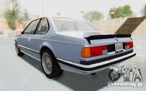 BMW M635 CSi (E24) 1984 IVF PJ1 для GTA San Andreas вид сзади слева