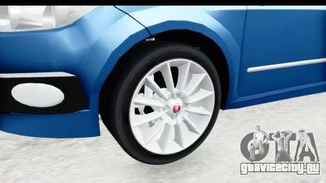 Fiat Linea 2014 Wheels для GTA San Andreas вид сзади